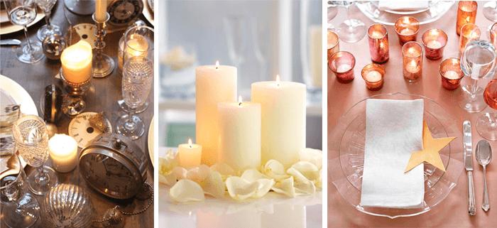 decoracao de ano-novo velas