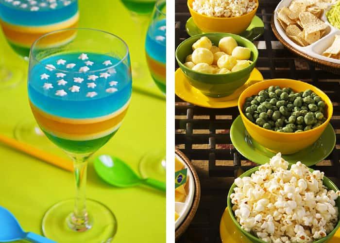 decoração de mesa para copa toppers comidinhas