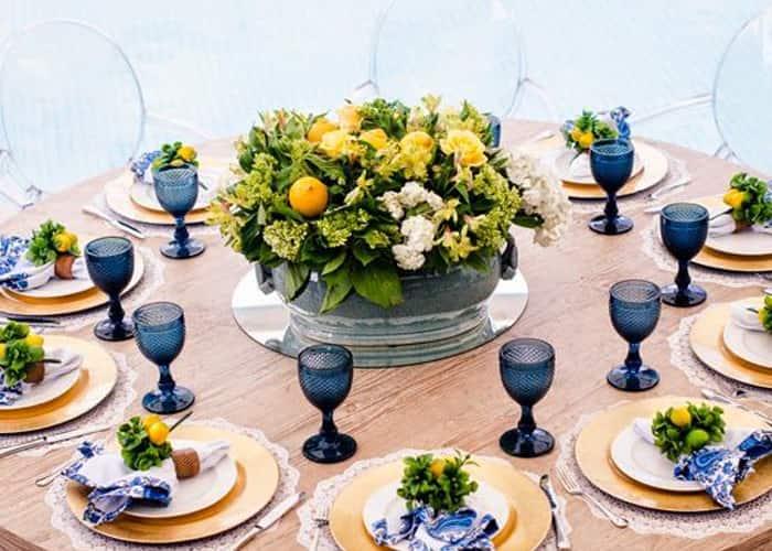 decoração de mesa para copa mesa posta