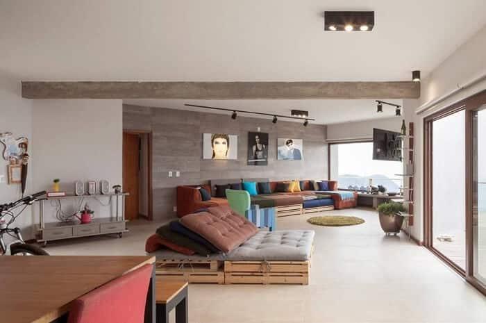 Decoração da sala de estar ambiente Marlette Lima