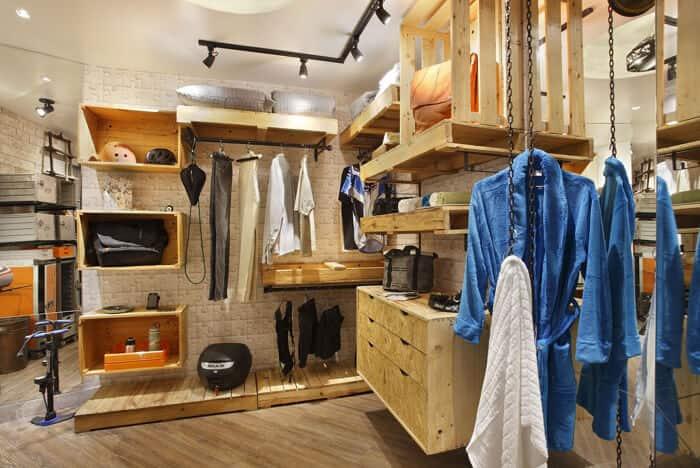 Closet em ambientes pequenos pallets