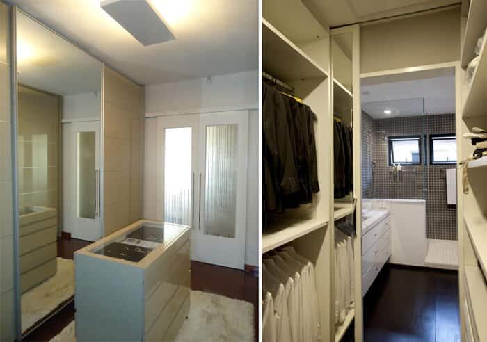 Closet em espaços pequenos corredor