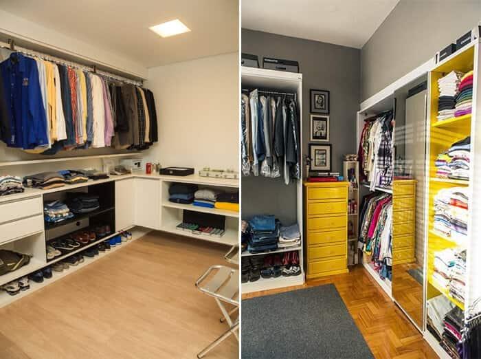 Closet em espaços pequenos quarto