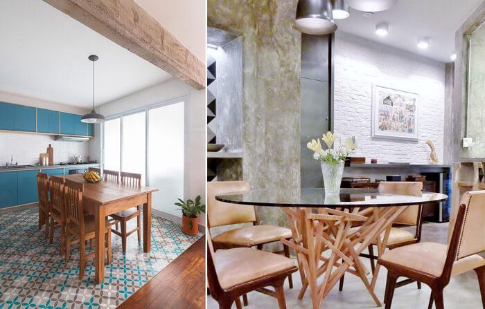 modelos de mesa de jantar INÁ Arquitetura