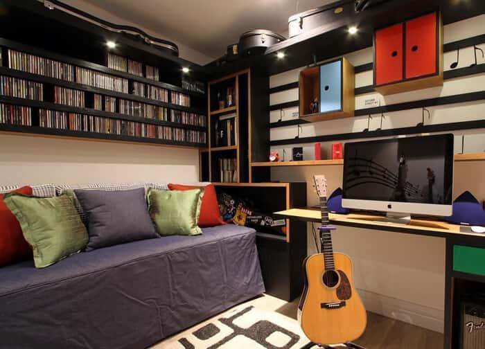 quarto de solteiro musical