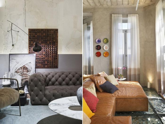 sofá 3 lugares colorido cinza