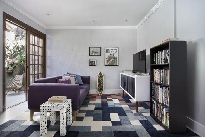 sofa 3 lugares colorido