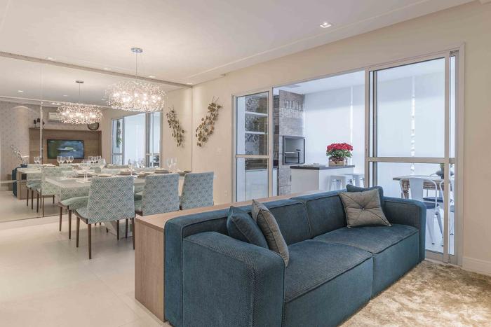 estilo clean sala de jantar apartamento