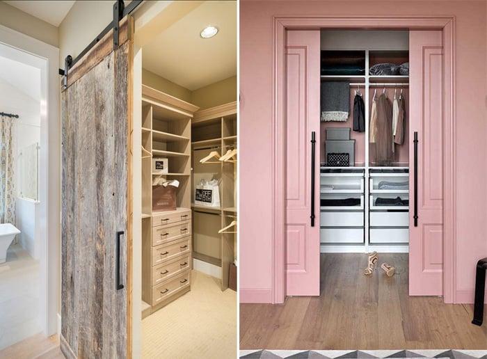 guarda-roupa de casal sem portas rosa