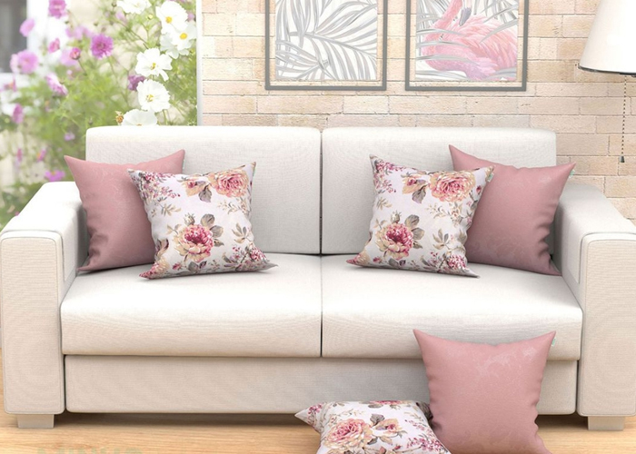 decorar a casa para a primavera sala