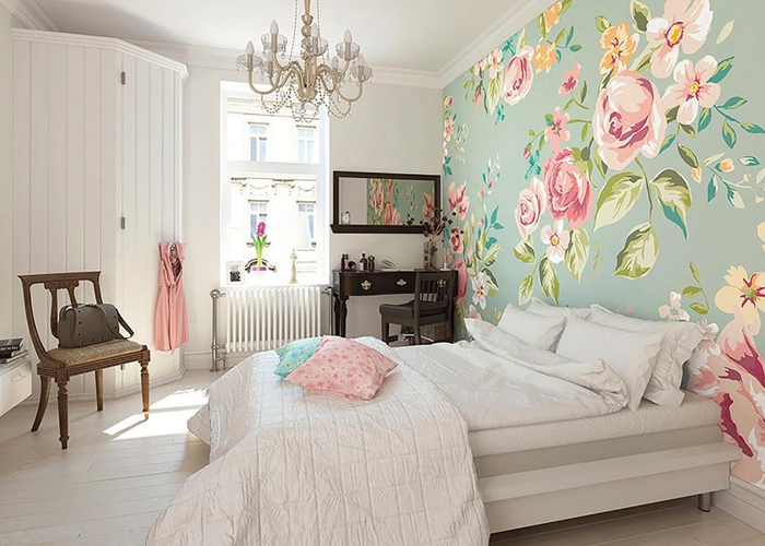 decorar a casa para a primavera quarto