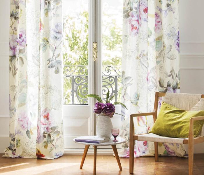 decorar a casa para a primavera cortinas