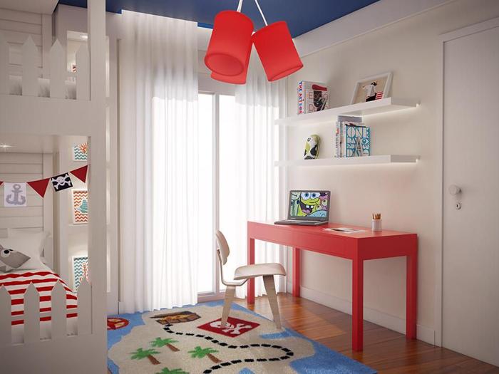lustres na decoração da casa quarto