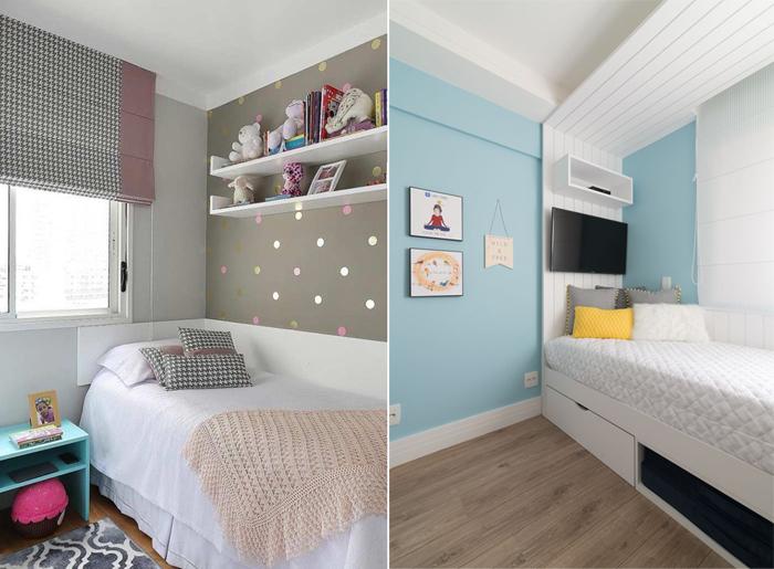 quarto de menina azul