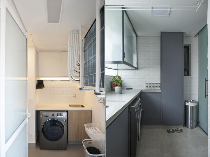 espaço da lavanderia armarios