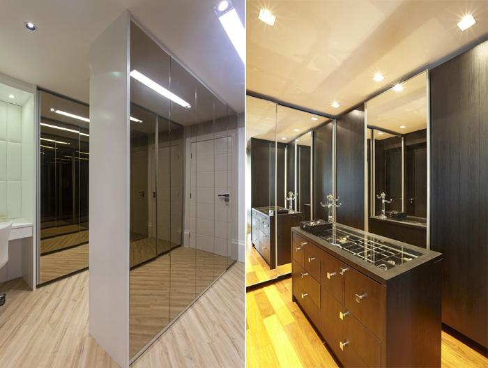 espelhos na decoração cozinha