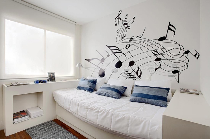 quarto de menino musica